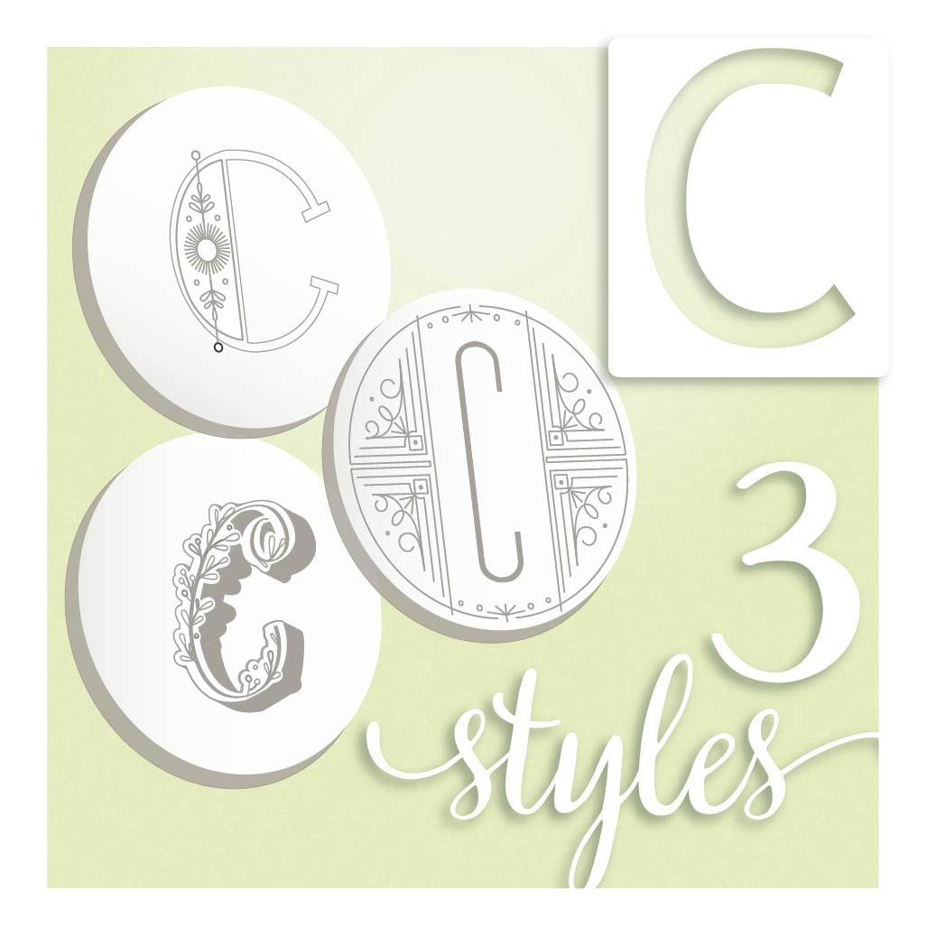 Embroidery pattern modern monograms letter c hand embroidery embroidery pattern modern monograms letter c hand embroidery patterns in three styles alphabet letter embroidery designs by septemberhouse spiritdancerdesigns Choice Image