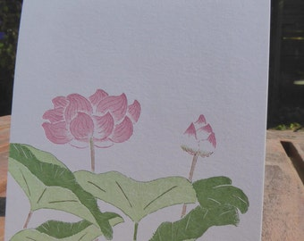 Lotus Blank Note Cards 5 pack
