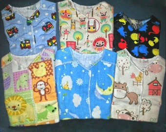 NICU Hospital Gown - Pick a Pattern & Size - Busy Boys - Micro Preemie Clothes - Preemie Clothes