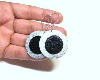 Eclipse Earrings Solar Eclipse Earrings Sun Eclipse Earrings August 21 2017 Top Selling Jewelry Solar Event Earring Eclipse Leather Earrings