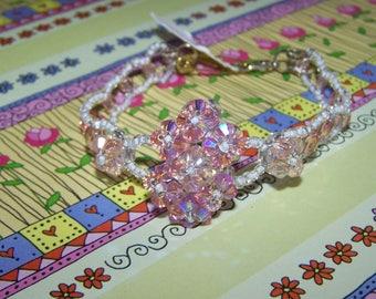 Costume jewelry swarovski crystal bracelet