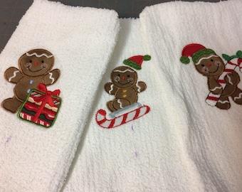 Gingerbread cookie Christmas towel
