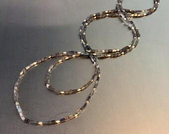 "Long ""Boho-chic"" Labradorite and Silver Necklace"