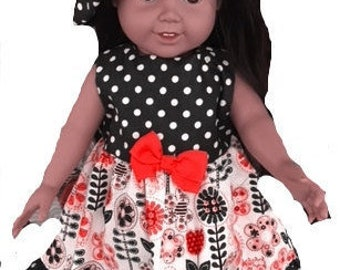 """18"""" Doll Sundress and Hat"""