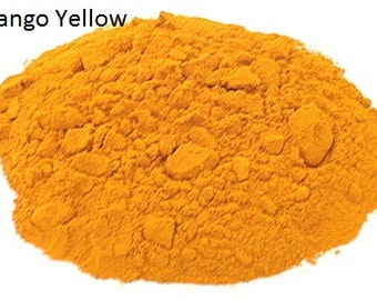 Vegetable Dye, Eco Friendly, Non-Toxic, Extremely Safe, Hypoallergenic, Color: Mango Yellow