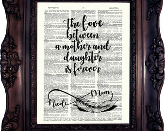 MOTHERS DAY GIFT Personalized Mom Print Mother Daughter Gift Personalized gift mum Mother of the bride Mothers day from daughter mom  829