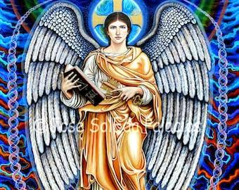 Archangel Jofiel 11x14 print on canvas by Jose SolEda