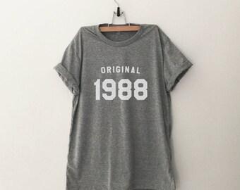30th birthday shirt tshirt graphic tee for women 30th birthday gifts for her 1988 birthday shirt t-shirts