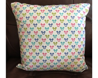 Pastel Mickey Mouse Head Pillow