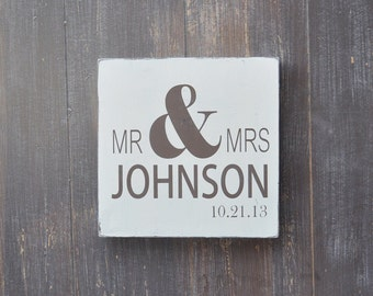 Wedding Sign, Engagement Gift, Bridal Shower Gift, Wedding Gift, Anniversary gift, Engagement Gift