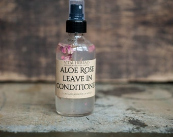 Aloe rose leave in conditioner - deep conditioner - hair conditioner - organic conditioner - organic hair care