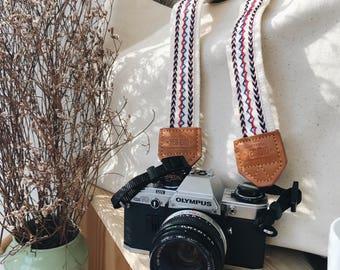 White Crisscross with White - Camera strap