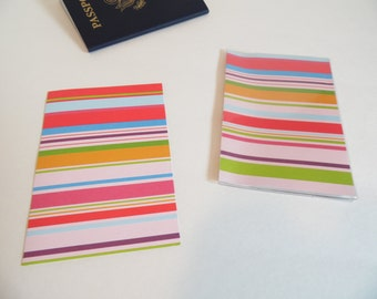 Plastic Passport Cover, Bright Rainbow Stripes, Passport  Sleeve, Case, Holder