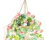 Hanging Flowers Painting ...