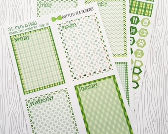 St. Pats In Plaid Recollections Mini Weekly Kit (Set of 41) Item #664