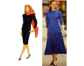 """Women's Dress Sewing Pattern The Family Circle Collection, Misses/ Miss Petite Size 12-14-16 Bust 34,36,38"""" Uncut Fast & Easy Butterick 4296"""