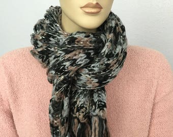 Women Knit Chunky Scarf  Women Winter Accessories Women Fall Accessories Christmas Gift under 50