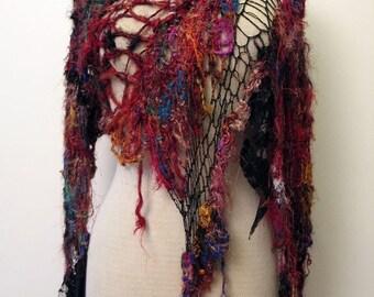 Artisan Shag Collage Sweater / Web / Amazing 80s / OOAK
