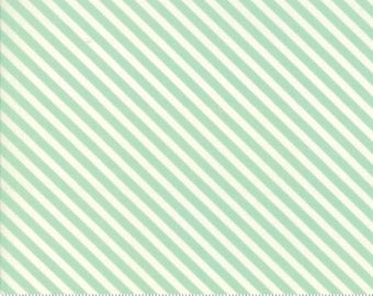 Handmade Candy Stripes Aqua 55145 12  by Bonnie and Camille from Moda -1 yard