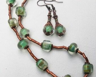 Sea foam necklace set