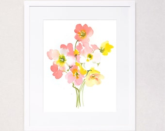 Happy Poppies (Watercolor Art Print)