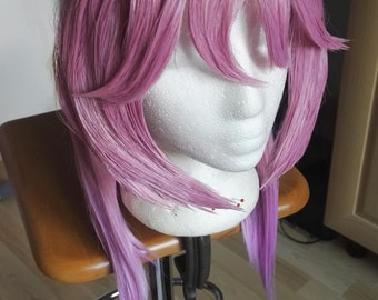 Cosplay Wig Pink gradient Light purple stylized