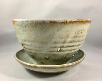 Ceramic Berry Bowl- Handmade Small Ceramic Colander