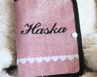Protects health book cover for dog or cat personalized pet name