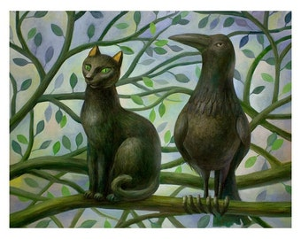 Limited Edition Print 14 x 11 - Meeting on the tree 12/50