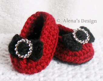 Crochet Pattern 150 - Crochet Shoes Pattern for 18 inch Doll - Holiday Doll Shoes Crochet Patterns 18 inch Dolls Slippers My Life As Doll