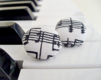Sheet Music Stud Earrings