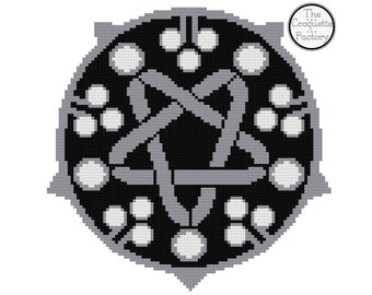 The Witcher Yennefer of Vengerberg Medallion Cross Stitch Pattern