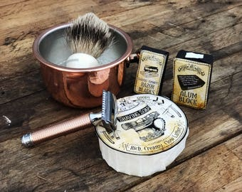 Copper Shaving Bowl - Shaving Mug
