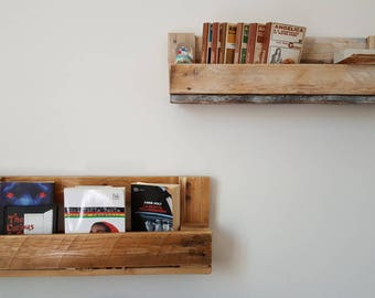 Recycled shelf with pallet
