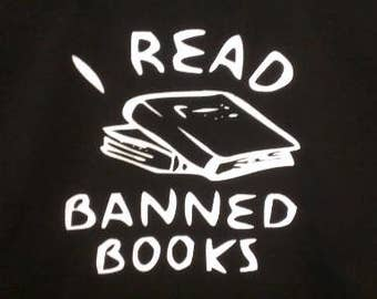Babies and Toddlers I Read Banned Books Onesie or Tot's Tee in Size Newborn, 6 Months, 12 Months, T2, T3, & T4