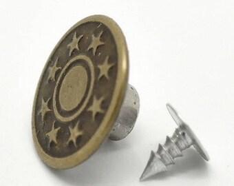 Repair of Jean - 17 mm diameter button
