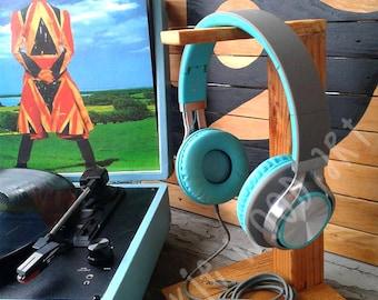 Wood Headphone Stand   Headphone Holder   Headset Stand   Headset Holder   Reclaimed wood   Made to order
