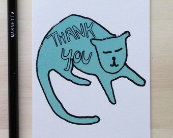 Thank You Teal Cat
