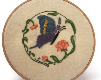 Traditional embroidery kit - Butterfly