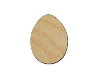 Egg Shape Unfinished Wood Easter Eggs Cutout Variety of Sizes - Artistic Craft Supply