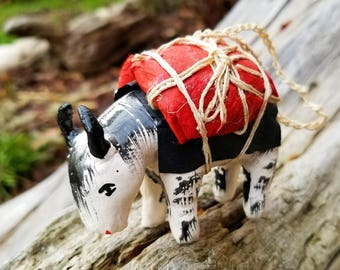 Handmade Yak Christmas Ornament