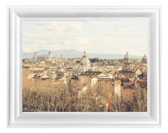 Photo Roma, digital download, winter, landscape, Eternal City, Italy, domes, decoration, by hotel, wall art, home decor, Christmas gift