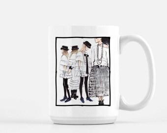 Chanel Coffee Mug, Chanel Inspired, Gift For Friend, Unique Coffee Mug, Chic Mug, Coffee Lover Mug, Fashionista Mug