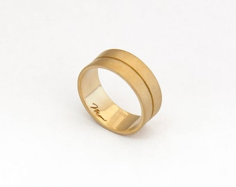 Wedding Band for Men Gold Wide Band Gold Ring Wide Gold Band Ring 14k ring band wedding band gold men wedding band ring mens wedding ring