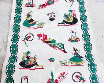 5 yds Vintage Kitchen Toweling / 1950's