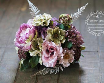 Fall / Earth Toned Floral Arrangement (Purple / Pink)