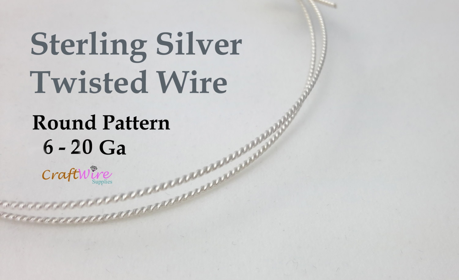925 Sterling Silver Twisted Wire, 6 8 10 12 14 16 18 20 Gauge, Round ...