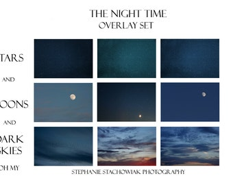 Sky Overlay, Moon Overlay, Stars Overlay, Night Time Overlays