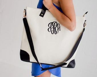 Monogrammed Sullivan Shoulder Bag,Preppy Monogrammed bag,Monogrammed laptop  bag,Personalized gift for