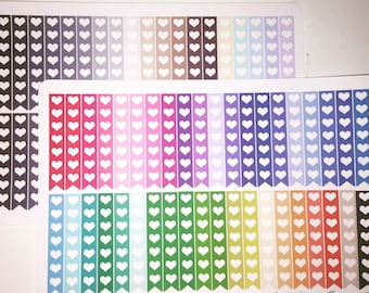 Multi-color Heart Checklist Banners